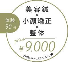 整体×美容鍼 体験90分¥9000