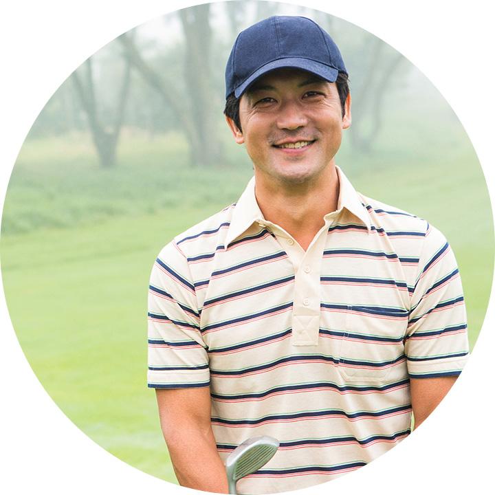 ゴルフの調子がいい